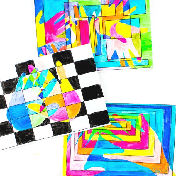 Arty Crafty Kids   Art Ideas for Kids   Cool Handprint Art, exploring warm and cool shades. Great for basic colour-mixing! #artforkids #kidsart #artclass