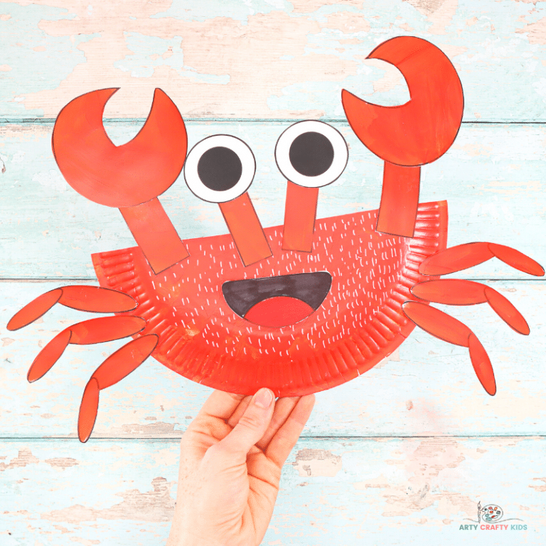 This fun ocean activity is a crab craft preschool kids will love! Paper Plate Crab Craft Arty Crafty Kids