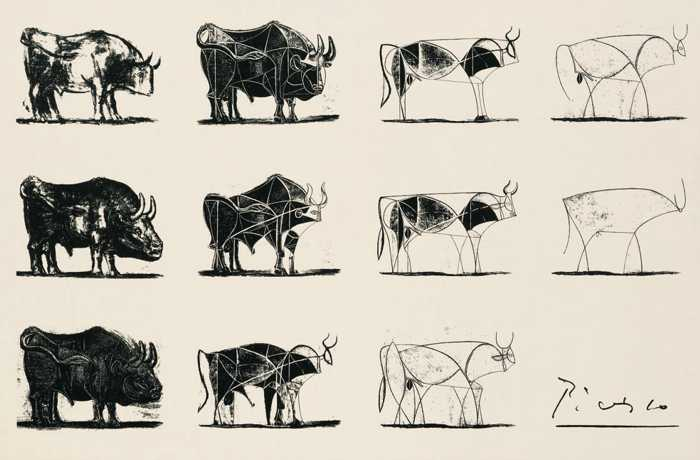 Image result for picasso bull sketch