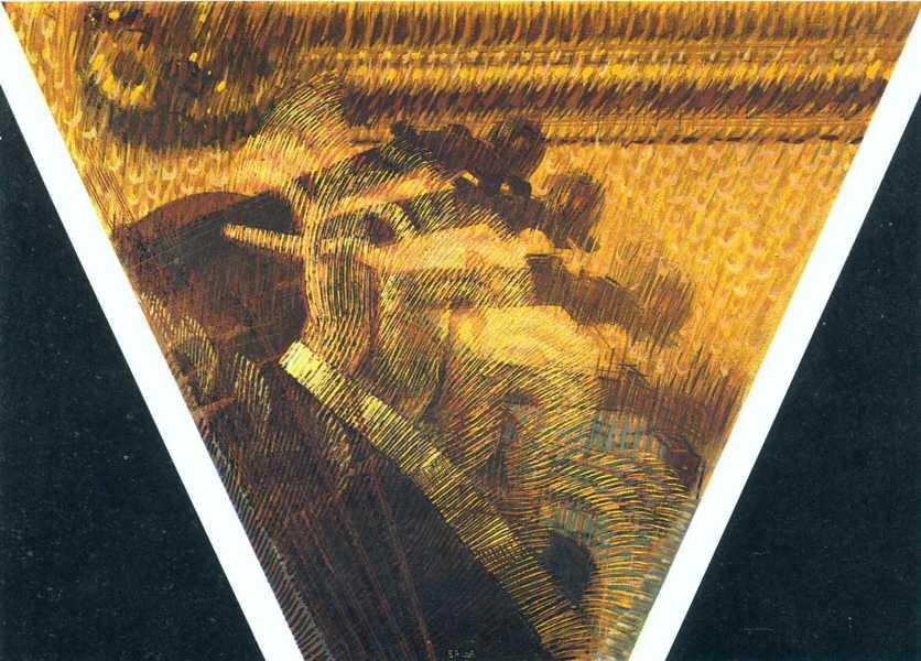 Giacomo Balla  - The Rhythm of the Violinist (detail), 1912