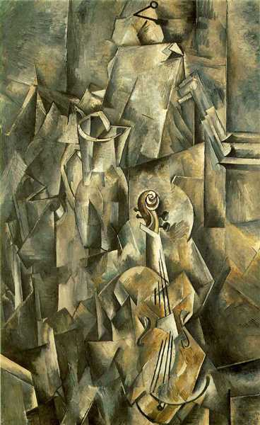 Georges Braque - Violin and Pitcher, 1910 (detail)