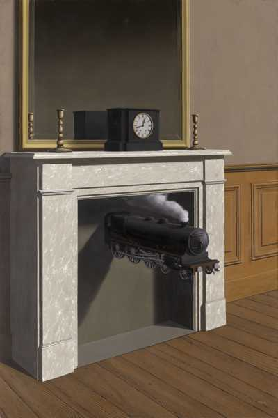 René Magritte - Time Transfixed, 1938