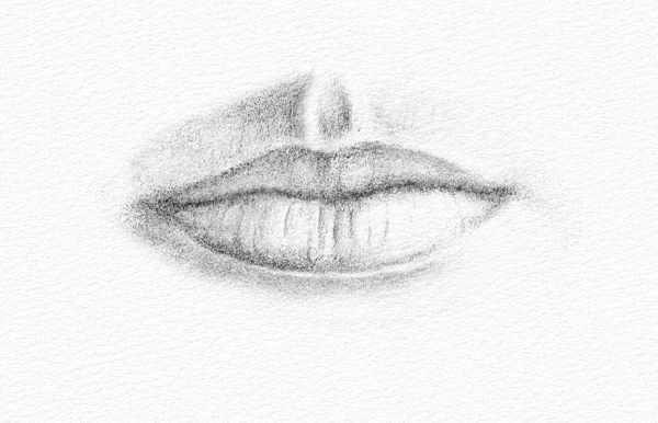 Cara Menggambar Sketsa Bibir