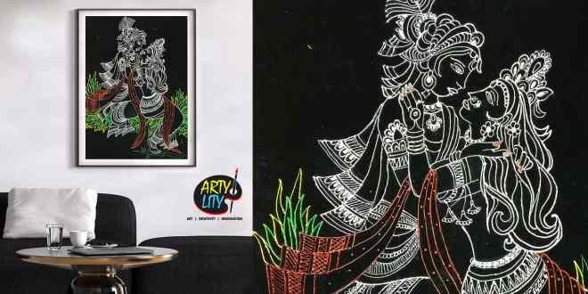 diy lord radha krishna velvet painting artylity
