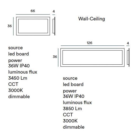 Flache helle LED Deckenleuchte rechteckig