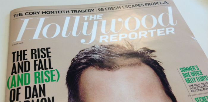 Couverture du Hollywood Reporter