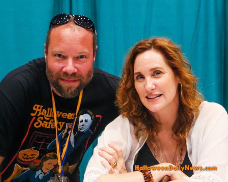 HDN's Matt Artz with Judith Hoag ('Halloweentown')