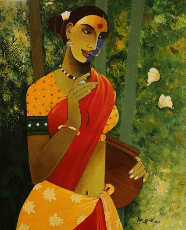 Indian Woman Iii Artist Agacharya