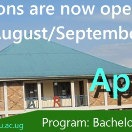Admissions for 2018-2017 August-September intake are now open