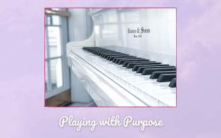 Playing with Purpose Picture of white piano