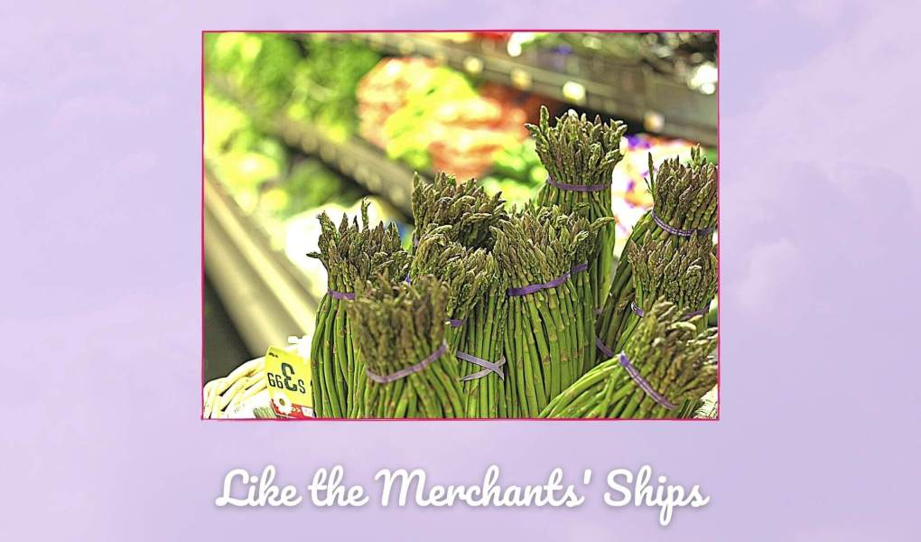 Picture of asparagus in the store to go with tips on grocery shopping