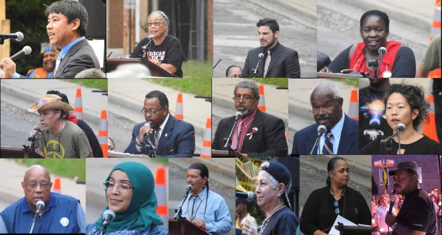 A diverse group of dynamic speakers shared their thoughts and stories at the rally in Annapolis