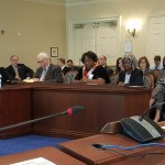 Claudia Barber testifying before House Judiciary Committee on February 21, 2018, in Annapolis.