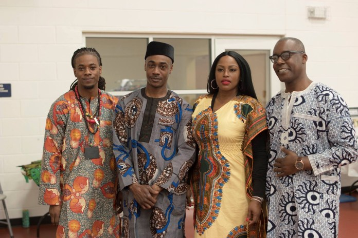 Deonte Ward and Adetola Ajayi of BWSA with Diva DaVoice and William Rowel