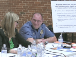 Anne Arundel County Police Chief Timothy Altomare, smirking