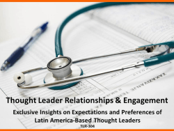 Latin America Thought Leader Relationships
