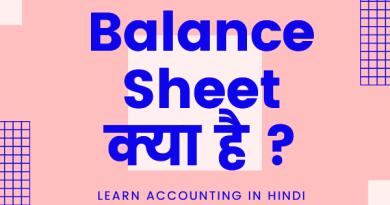 What is Balance sheet in Hindi? बैलेंस शीट क्या है?