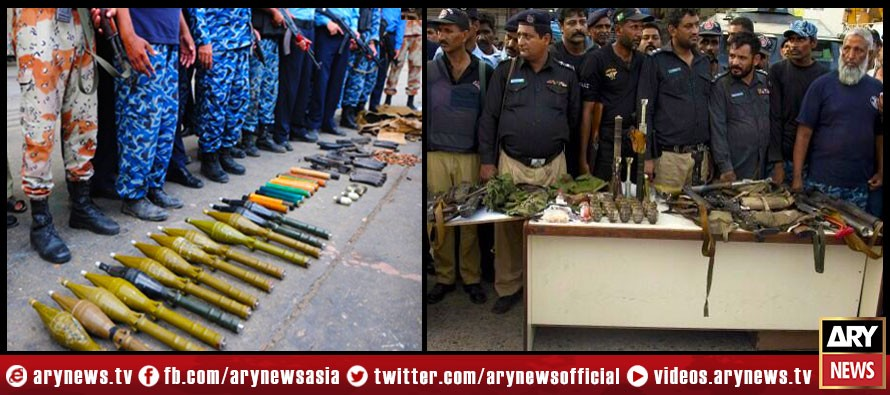 Indian-made weapons recovered from terrorists of airport attack