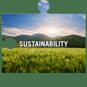Sustainability jigsaw piece