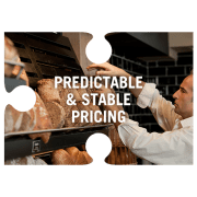 Predictable and stable pricing jigsaw piece