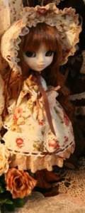 Prototype Pullip Vintage Flower Lolita Brown Hair 2009