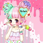 Kawaii Girl Ice Cream