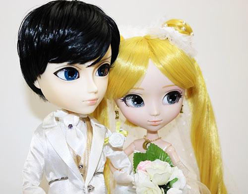 Zoom Pullip Usagi Tsukino Taeyang Mamoru Chiba wedding version