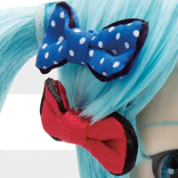 Close-up ribbon rubans Pullip Miku Hatsune Yokohama Doll Museum exclusive version