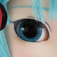 Close-up eye oeil Pullip Miku Hatsune Yokohama Doll Museum exclusive version