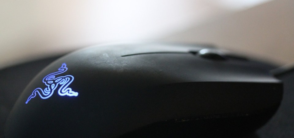 black Razer mouse