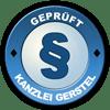 Prüfzeichen Kanzlei Gerstel