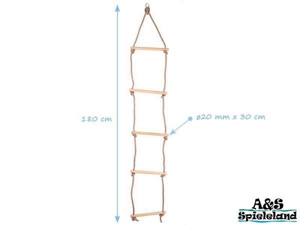 Strickleiter 5 Sprossen Holz