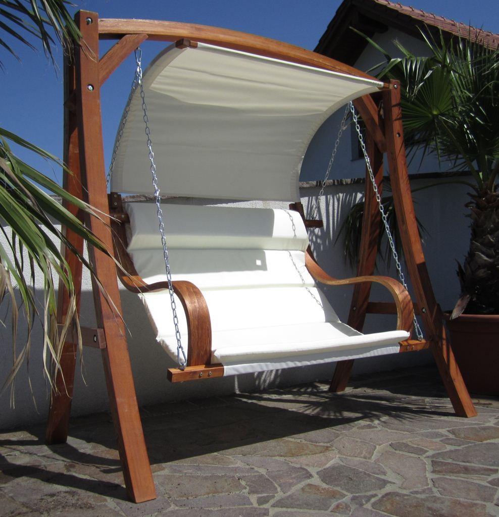 hollywoodschaukel holz ersatzdach » terrassenholz, Moderne