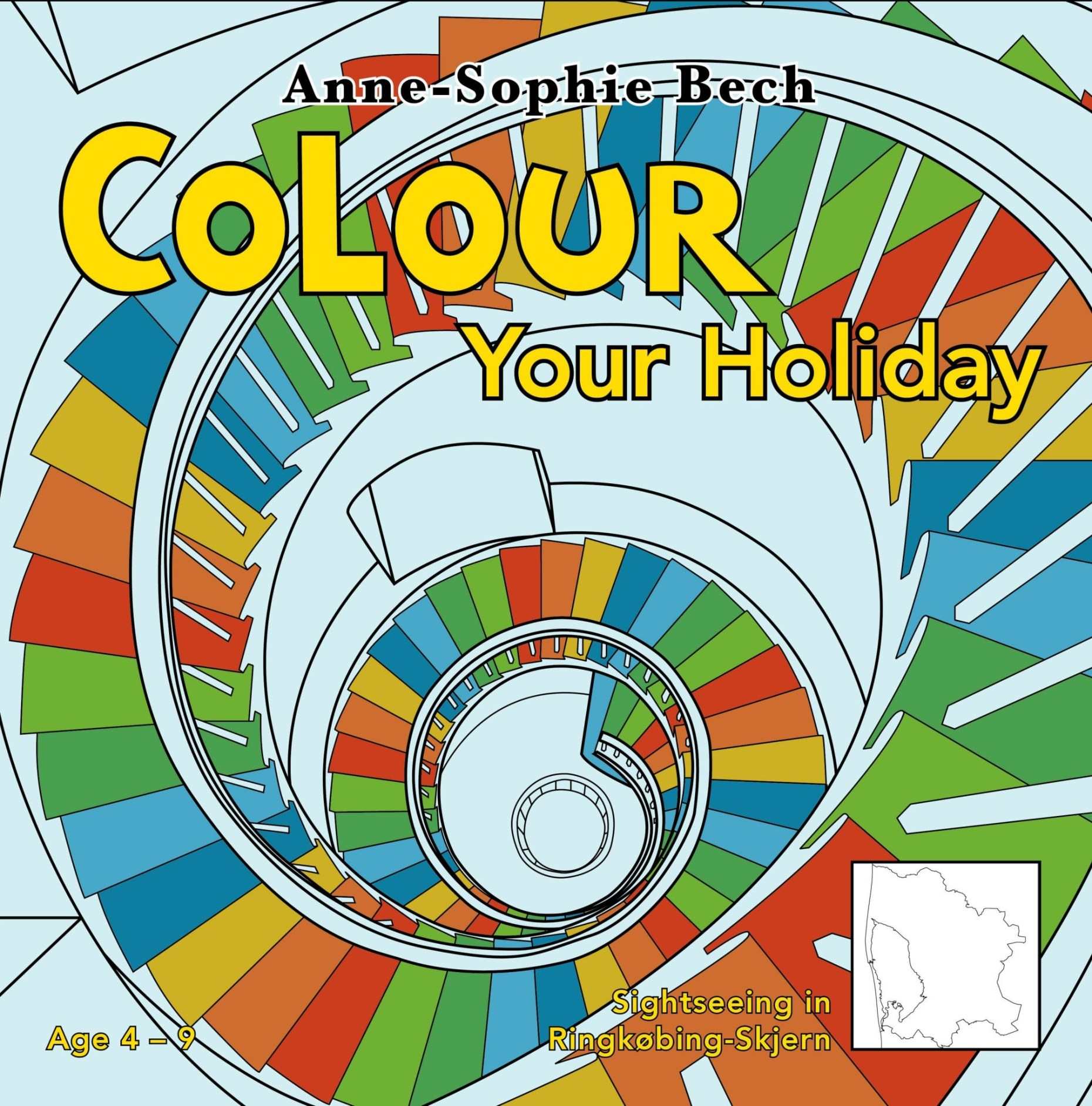 Colour Your Holiday - Sightseeing in Ringkøbing-Skjern - børne cover