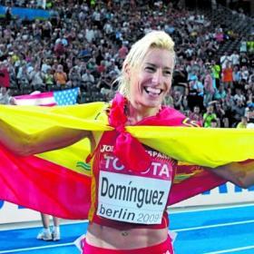 Marta exultante y orgullosa tras su victoria