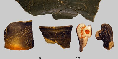 Erik Porth will be analyzing these ancient sherds from Moundville in order to learn more about the civilization's social structures and decline.