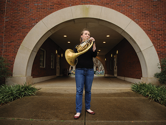 Cynthia Simpson was named the Western Hemisphere's second best French horn player. Photo Credit: Matthew Wood