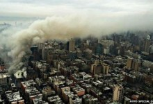 Photo of New York buildings collapse after explosion in Manhattan