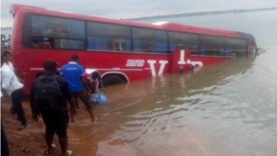 Photo of VIP bus plunges into River Oti