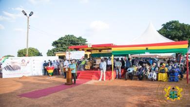 Photo of President Akufo-Addo cuts sod for $49 million Damongo water project
