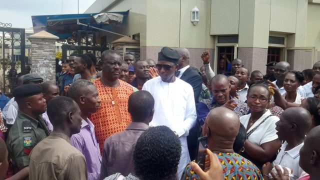 Osanebi Addressing Delta State House Of Assembly Workers