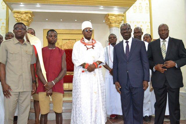 Oba of Benin and Governor Obaseki