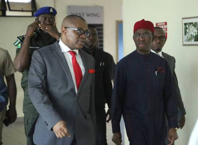 Governor Ifeanyi Okowa and Nicholas Azinge