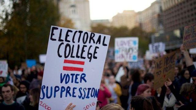 Electoral College against Popular Vote