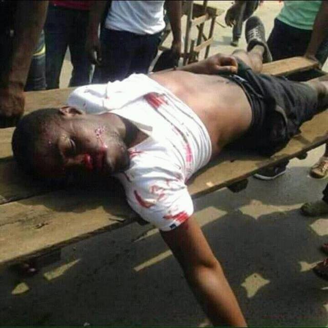 Dead Pro Biafra Protester