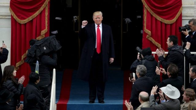 President Trump Makes His Entry