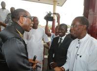 Ayo Oritsejafor and Governor Okwa