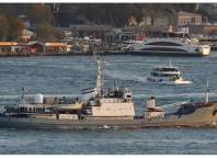 Russian intelligence ship in Black Sea