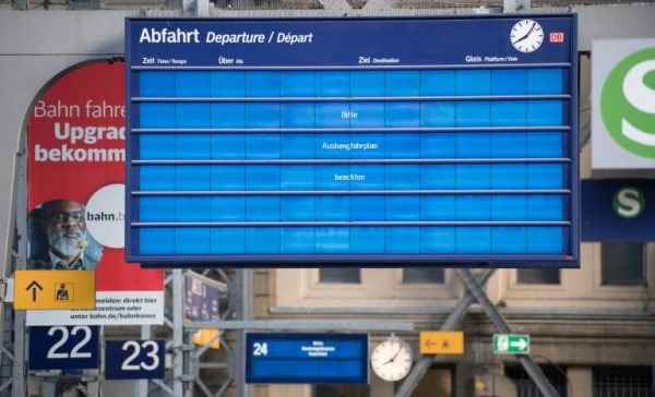 Germany Rail Stations Screen affected by Ransomware