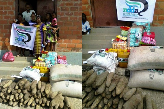 NDDA Donates items to Benue flood victims